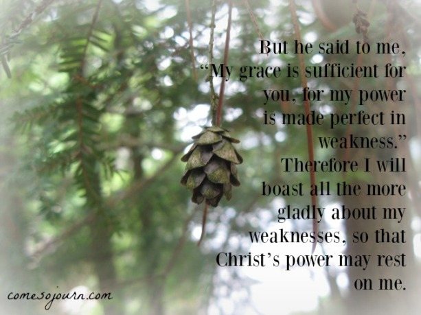 grace is sufficient, made perfect in weakness