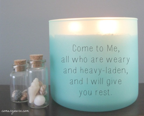 all who are weary, come to me, I will give you rest